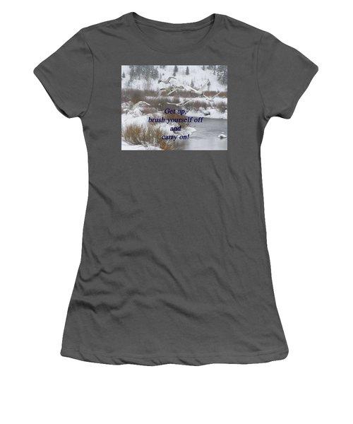 Women's T-Shirt (Junior Cut) featuring the photograph In Flight Carry On by DeeLon Merritt