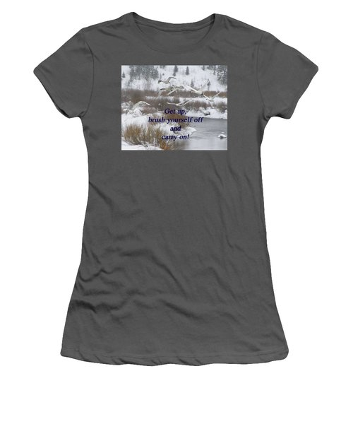 In Flight Carry On Women's T-Shirt (Athletic Fit)