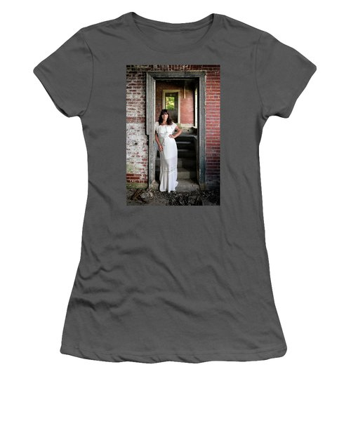 Women's T-Shirt (Athletic Fit) featuring the photograph In The Doorway by Rick Berk