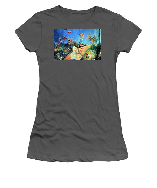 In The Garden Of Joy Women's T-Shirt (Athletic Fit)