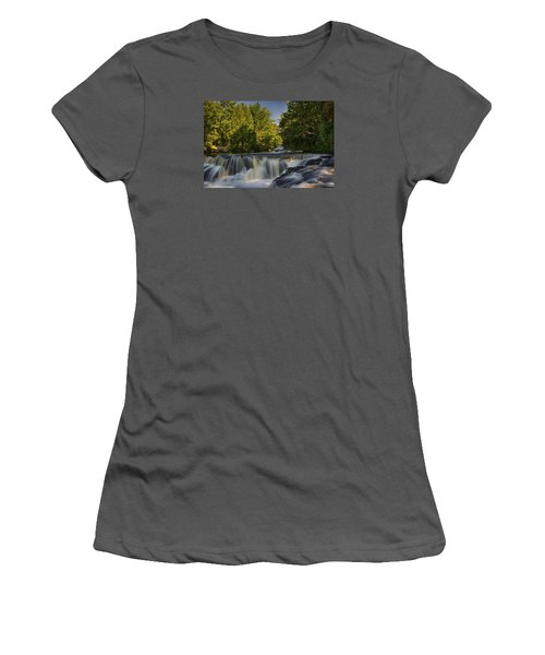 In The Middle Of The Middle Branch Women's T-Shirt (Junior Cut) by Dan Hefle