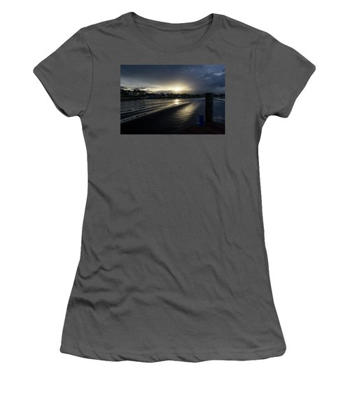 Women's T-Shirt (Athletic Fit) featuring the photograph In The Wake Zone by Laura Fasulo