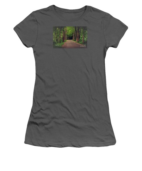 In To The   Deep Dark Woods  Women's T-Shirt (Junior Cut) by MaryLee Parker