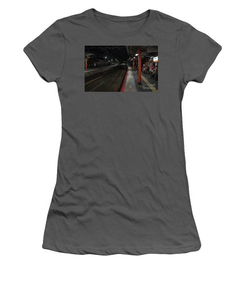 Inari Station, Kyoto Japan Women's T-Shirt (Athletic Fit)