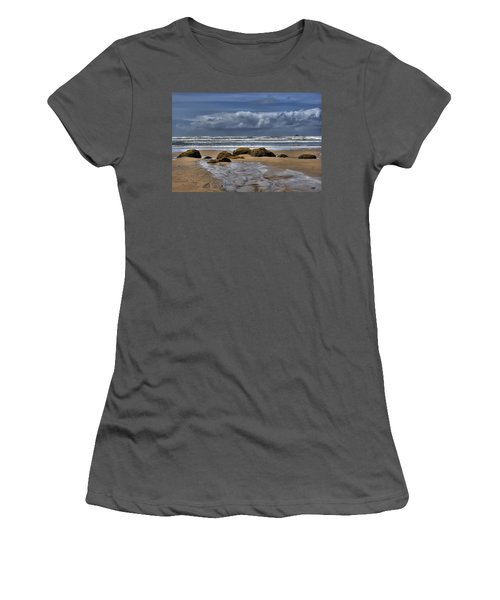 Indian Beach Women's T-Shirt (Athletic Fit)