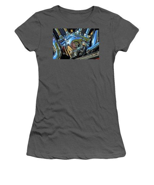 Indian Motor Women's T-Shirt (Junior Cut) by Keith Hawley