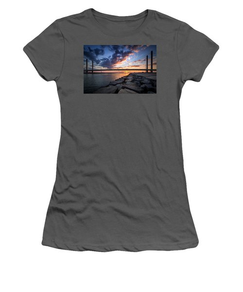 Indian River Inlet And Bay Sunset Women's T-Shirt (Athletic Fit)