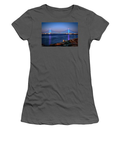 Indian River Inlet Bridge Twilight Women's T-Shirt (Athletic Fit)