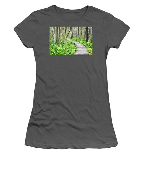 Indiana Dunes Great Green Marsh Boardwalk Women's T-Shirt (Athletic Fit)