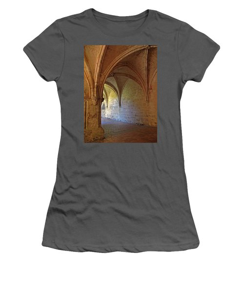 Inside A Monastery Dordogne France  Women's T-Shirt (Athletic Fit)