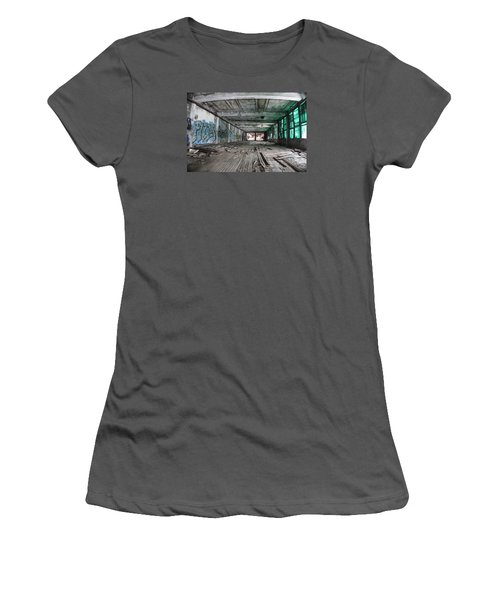 Inside Detroit Packard Plant  Women's T-Shirt (Junior Cut) by John McGraw