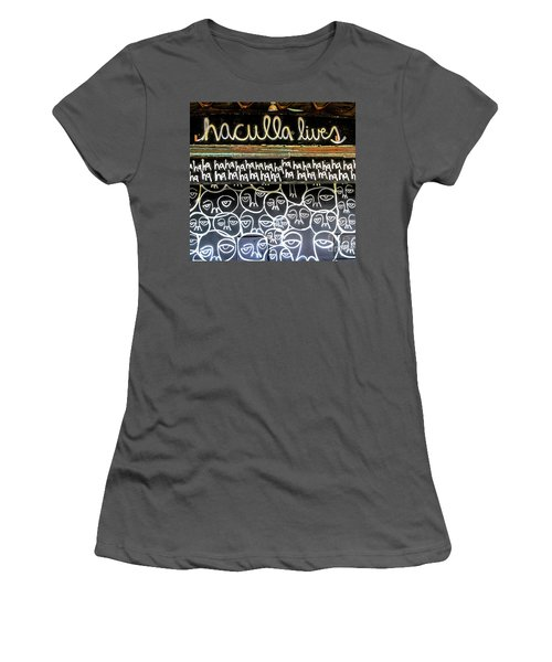 Women's T-Shirt (Junior Cut) featuring the photograph Inside The Carousel House by Colleen Kammerer