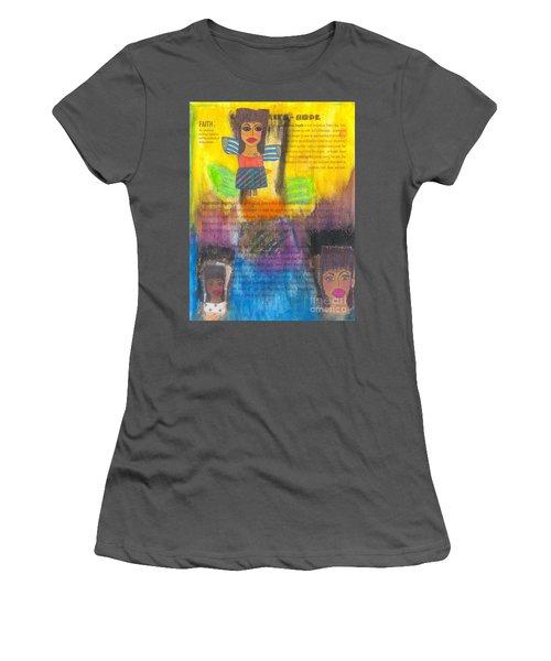 Inspiration Angels Women's T-Shirt (Junior Cut) by Angela L Walker