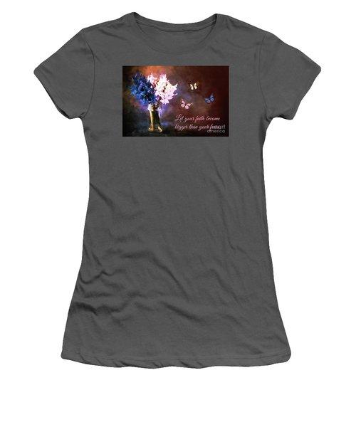 Inspirational Flower Art Women's T-Shirt (Junior Cut) by Tina LeCour