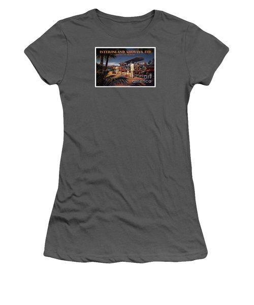 Inter Island Airways-honolulu Hawaii Women's T-Shirt (Junior Cut) by Nostalgic Prints