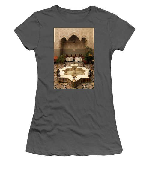 Interior Of A Traditional Riad In Fez Women's T-Shirt (Athletic Fit)