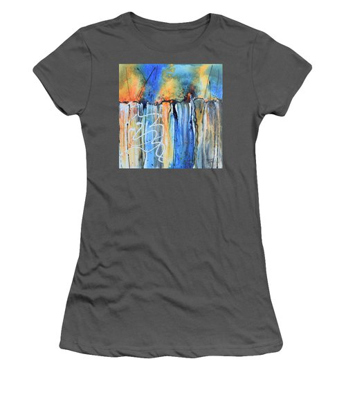 Into The Earth Women's T-Shirt (Junior Cut) by Nancy Jolley