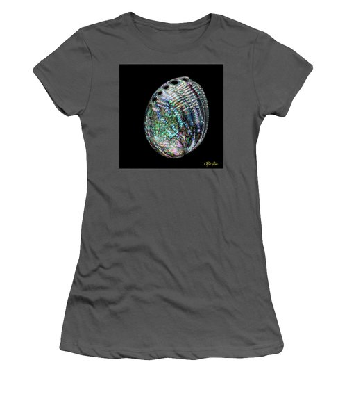 Women's T-Shirt (Athletic Fit) featuring the photograph Iridescence On The Half-shell by Rikk Flohr
