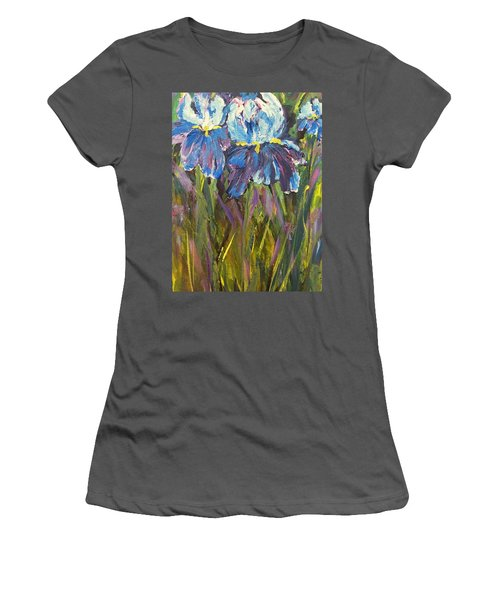 Iris Floral Garden Women's T-Shirt (Athletic Fit)