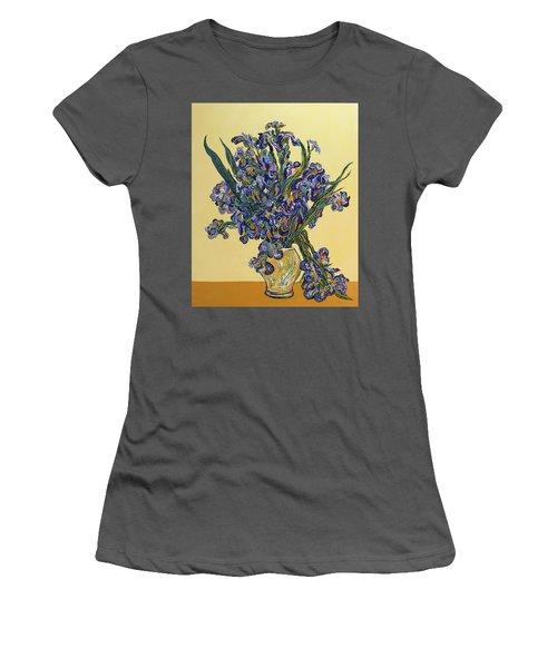 Irises  Women's T-Shirt (Junior Cut) by Erika Pochybova