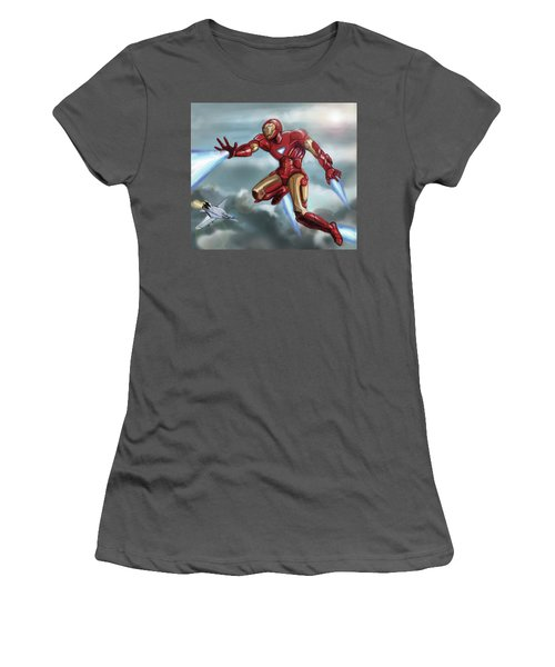 Iron Man Women's T-Shirt (Athletic Fit)