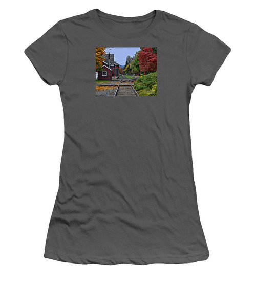 Issaquah Train Station Women's T-Shirt (Junior Cut) by Kirt Tisdale