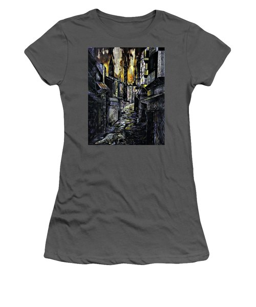 Istanbul Impressions. Lost In The City. Women's T-Shirt (Athletic Fit)