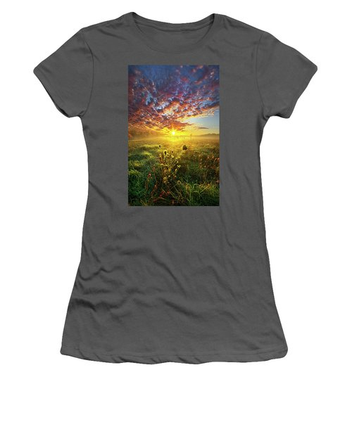 It Begins With A Word Women's T-Shirt (Athletic Fit)