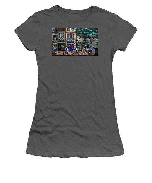 Italian Cafe Women's T-Shirt (Junior Cut) by Curtiss Shaffer