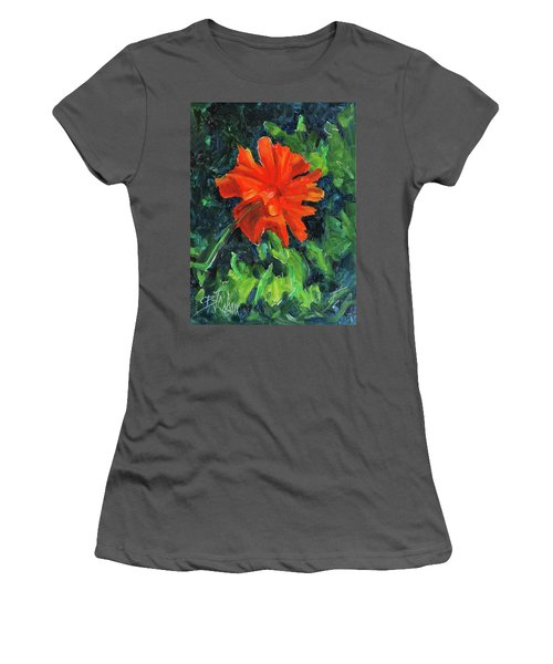 Women's T-Shirt (Junior Cut) featuring the painting I've Got My Red Dress On by Billie Colson