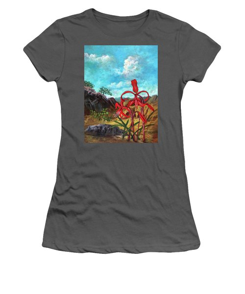 Jacobean Lily Of Mexico Women's T-Shirt (Athletic Fit)