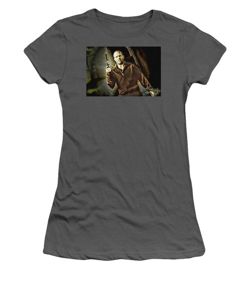 Jason Statham - Actor Painting Women's T-Shirt (Athletic Fit)