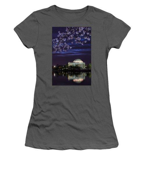 Jefferson Cherry Sunrise Women's T-Shirt (Athletic Fit)
