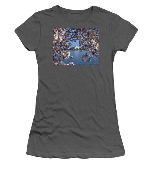 Jefferson Memorial On The Tidal Basin Ds051 Women's T-Shirt (Junior Cut) by Gerry Gantt