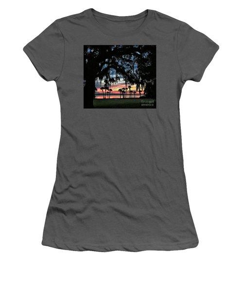 Jekyll Island Georgia Sunset Women's T-Shirt (Athletic Fit)