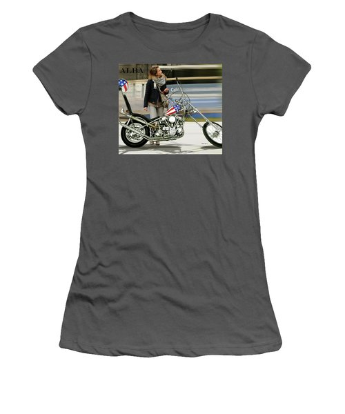Jessica Alba, Captain America, Easy Rider Women's T-Shirt (Athletic Fit)