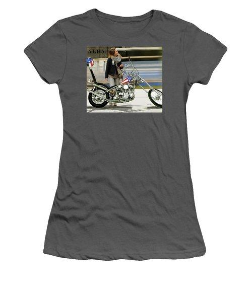 Jessica Alba, Captain America, Easy Rider Women's T-Shirt (Athletic Fit)