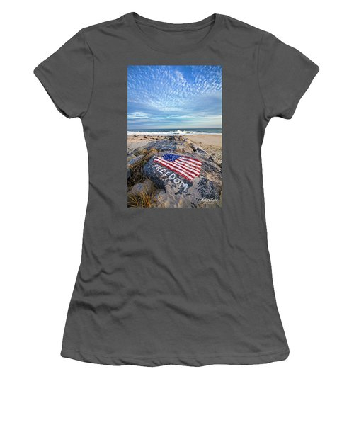 Jetty Four Beach Women's T-Shirt (Athletic Fit)