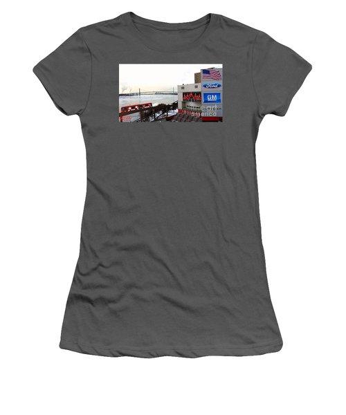 Joe Louis Arena Women's T-Shirt (Junior Cut) by Michael Rucker