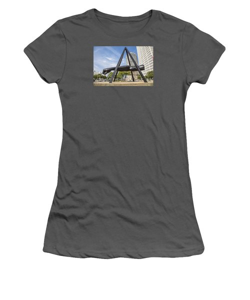 Joe Louis Fist In Detroit In Color  Women's T-Shirt (Athletic Fit)