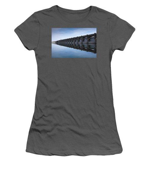 John Martin Dam And Reservoir Women's T-Shirt (Junior Cut) by Ernie Echols