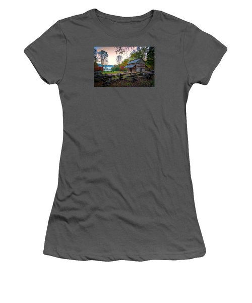 John Oliver Place In Cades Cove Women's T-Shirt (Junior Cut) by Rick Berk