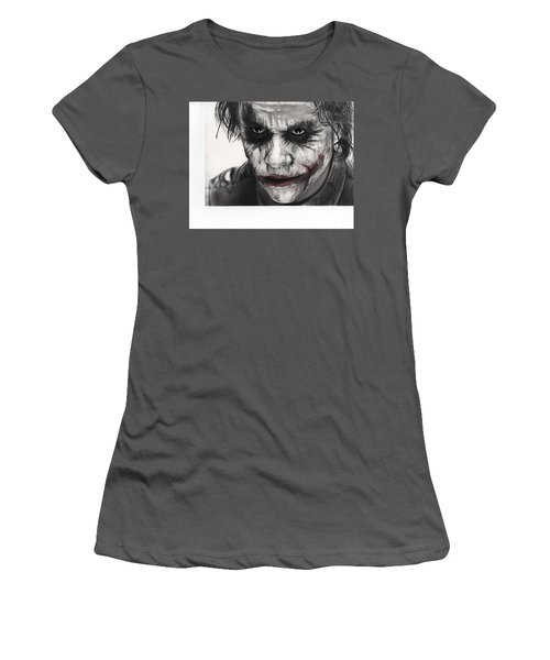 Joker Face Women's T-Shirt (Junior Cut) by James Holko