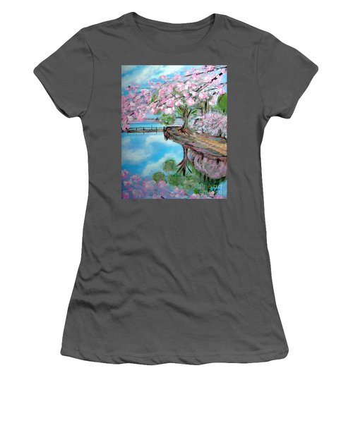 Joy Of Spring. Acrylic Painting For Sale Women's T-Shirt (Athletic Fit)