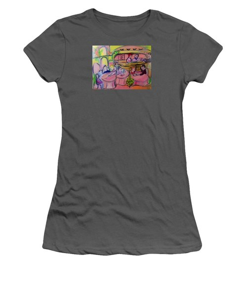 Joyful Tinkling Bells Cafe Women's T-Shirt (Junior Cut) by Judith Desrosiers