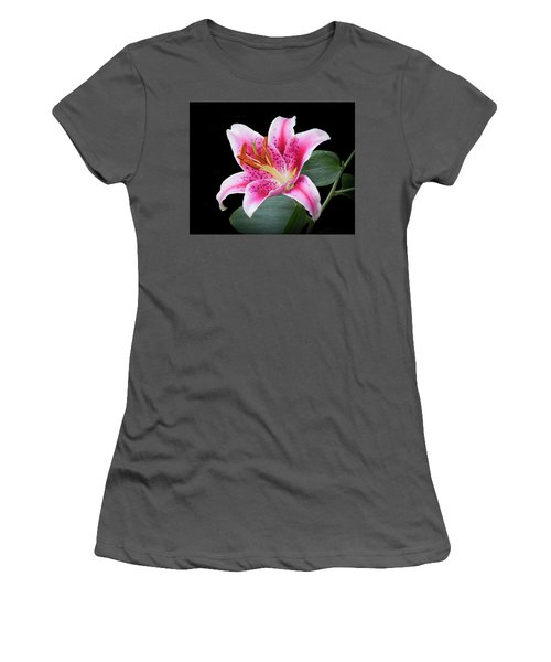 July Stargazer Lily Women's T-Shirt (Athletic Fit)