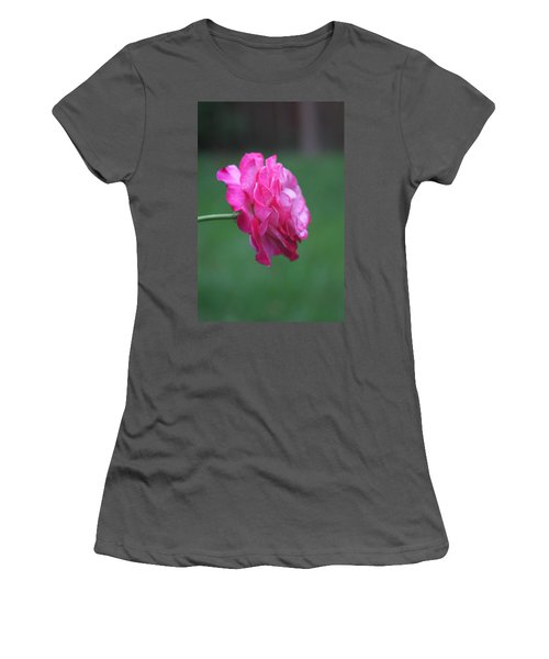 Women's T-Shirt (Athletic Fit) featuring the photograph June Rose by Vadim Levin