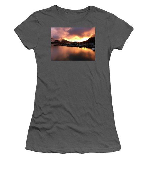 Juneau Sunset Women's T-Shirt (Athletic Fit)