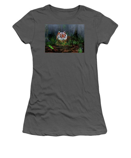 Women's T-Shirt (Junior Cut) featuring the painting Jungle Cat by Myrna Walsh