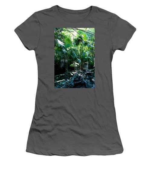 Jungle Sun  Women's T-Shirt (Junior Cut) by Robert Nickologianis